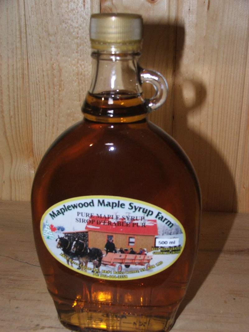 500ml Glass Bottle Pure Maple Syrup